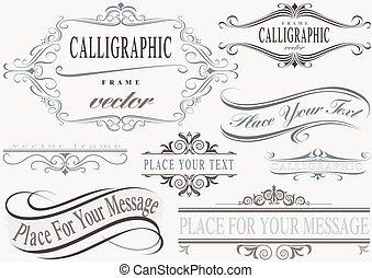 cadres, calligraphic