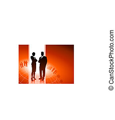 cadres, global, financier, equipe affaires