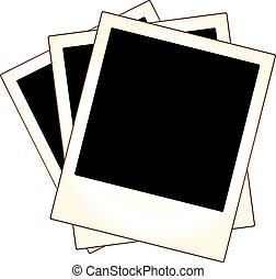 cadres, photo, polaroid