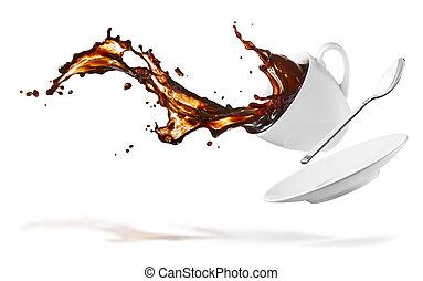 café, éclaboussure