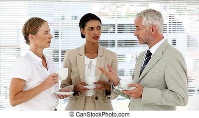 café, équipe, sur, business, bavarder