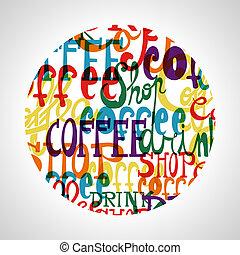 café, cercle, forme