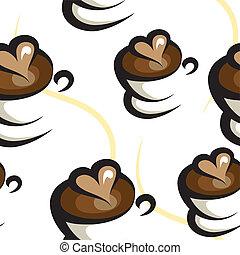 café, fond, seamless