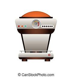café, graphique, machine, vecteur, temps, icon., design.