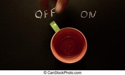 café, on., commutation, tasse