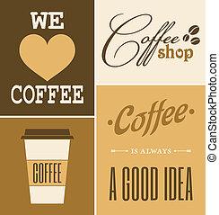 café, retro, collection