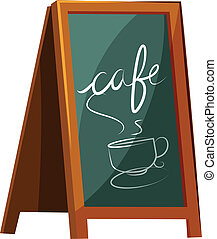 café, signage