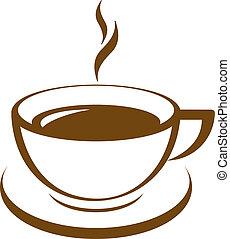 café, vecteur, icône, tasse