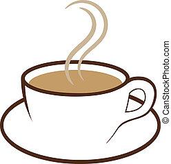 café, vecteur, tasse