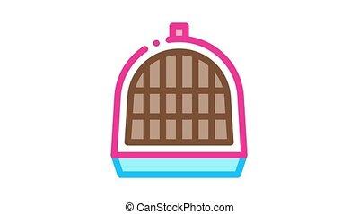 cage, chouchou, icône, animation