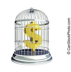 cage d'oiseaux, dollar