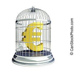 cage d'oiseaux, euro