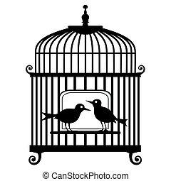 cage d'oiseaux, vecteur