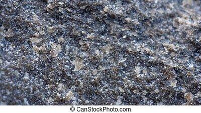 calcite, quartz, basalte, cristaux, matrice, closeup