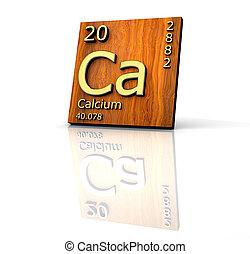 calcium, éléments, table, formulaire, périodique