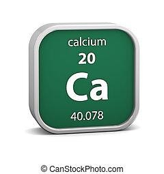 calcium, matériel, signe