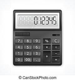 calculatrice, blanc