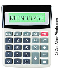 calculatrice, reimburse