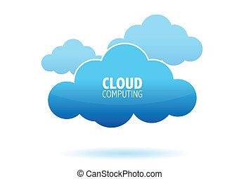 calculer, nuage, concept