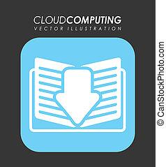 calculer, nuage, conception