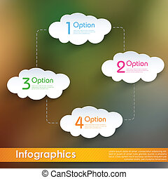 calculer, nuage, infographics