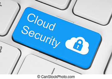 calculer, nuage, sécurité, concept