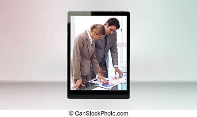 calculer, vidéos, business, tablette