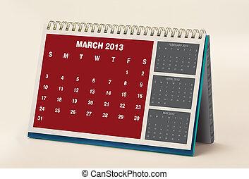 calendar., mars, 2013