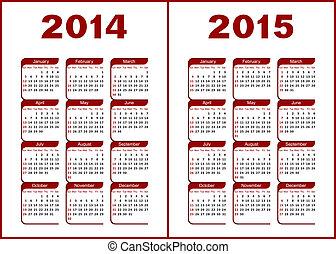 calendrier, 2014