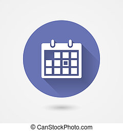 calendrier, icône