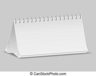 calendrier, vide, bureau