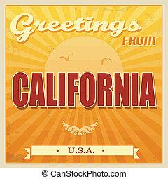 californie, vendange, etats-unis., affiche