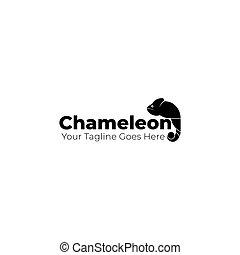 caméléon, typographie, logo