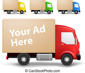camion cargaison, illustration