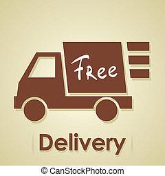 camion, delivery., gratuite