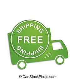 camion, gratuite, expédition