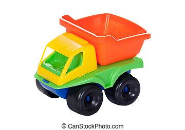 camion jouet, couleurs, beaucoup