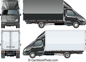 camion, livraison, cargaison