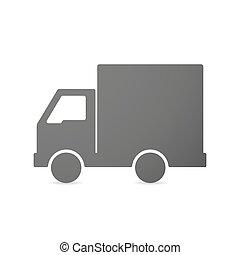 camion livraison, icône, isolé