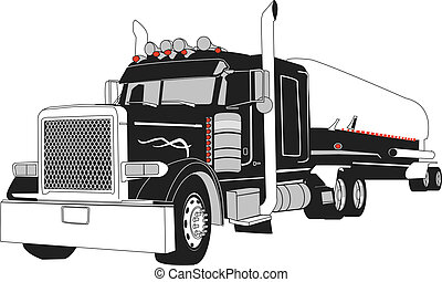 camion navire-citerne, semi