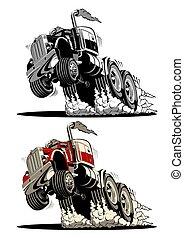 camion, semi, dessin animé
