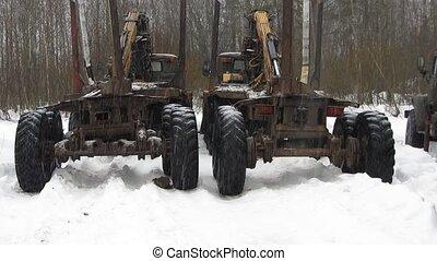 camions, bois construction