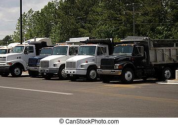 camions décharge