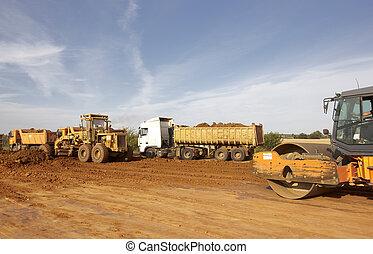 camions décharge, tracteurs