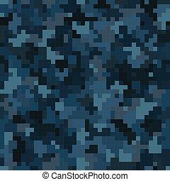 camouflage, urbain, modèle, seamless, pattern., pixel, premier plan