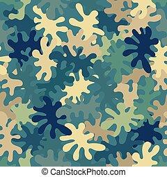 camouflage, urbain, seamless, modèle, pixel, pattern., premier plan
