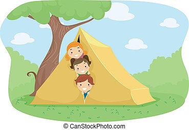 camp, tente