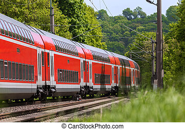 campagne, train passager