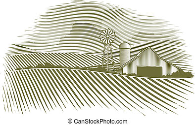 campagne, woodcut