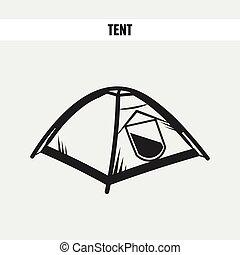 camper tente, touriste